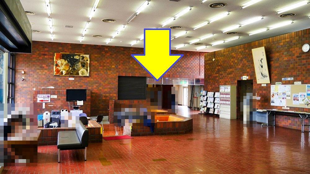 成田市中央公民館の講堂は1F奥