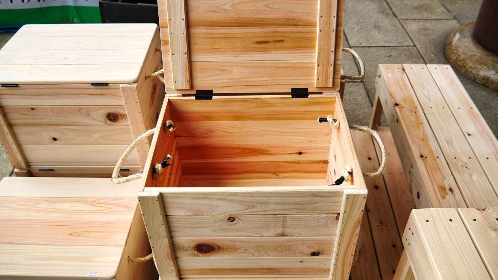 木製ボックス、は開閉可能