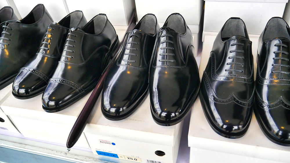 千葉刑務所製の革靴