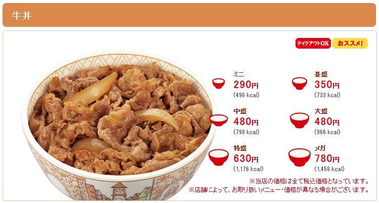 すき家の『メガ牛丼』は並盛の2倍量
