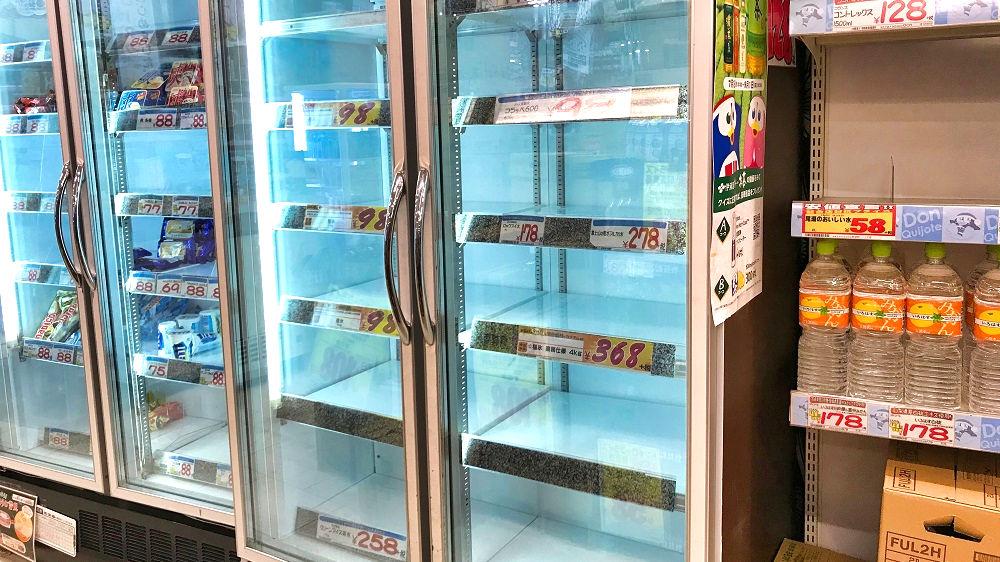 MEGAドン・キホーテ成田店では氷は売切れ