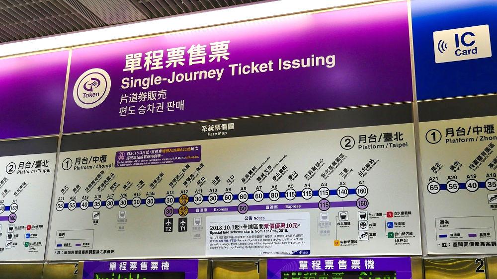 桃園機場捷運(MRT空港線)の運賃
