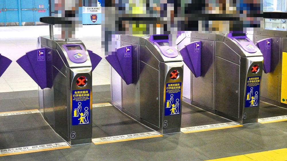 桃園機場捷運(MRT空港線)の改札口