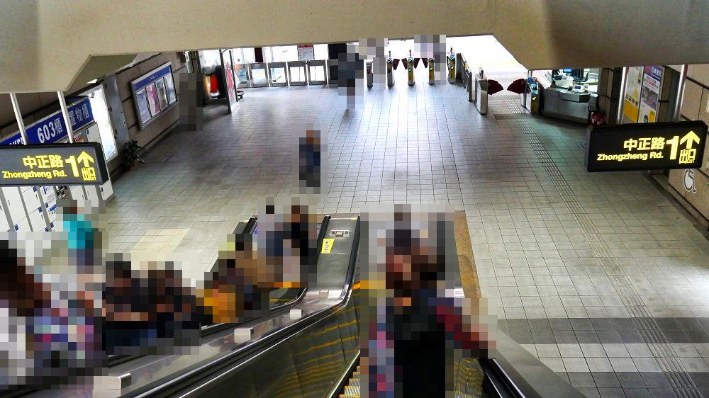 台北MRTの「淡水信義線(Red Line)」の「士林站」