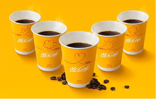 新プレミアムローストコーヒー(Sサイズ)のカップデザインは5種類