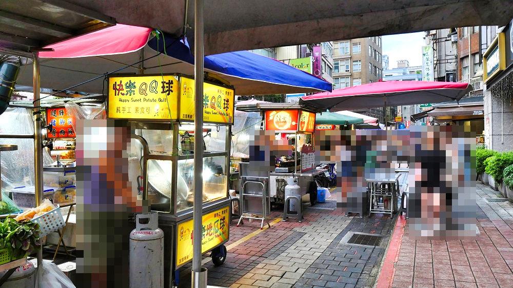 台北市内の屋台の様子