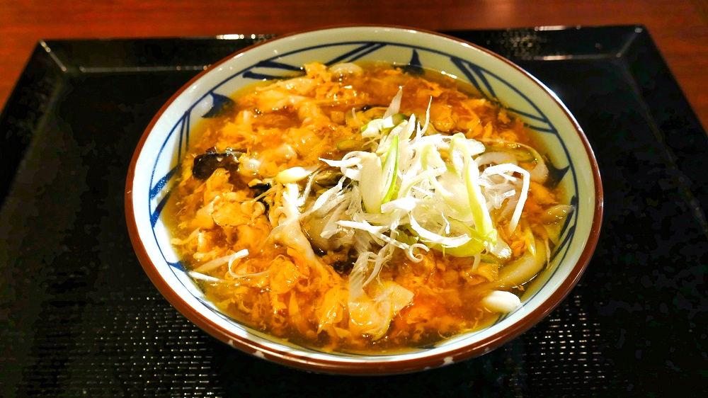 丸亀製麺の『牡蠣づくし玉子あんかけうどん』(並)