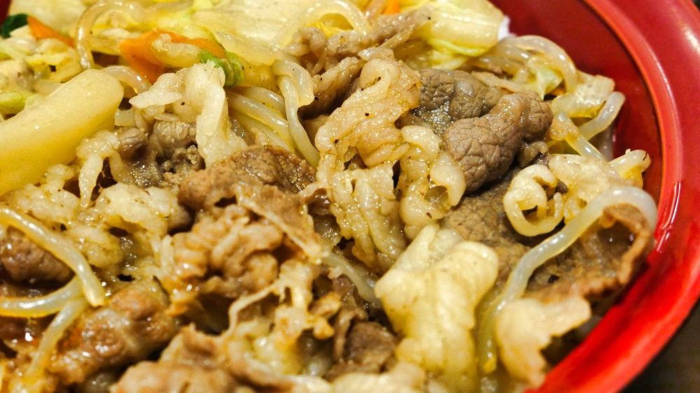 すき家の「黒毛和牛すき焼き丼」