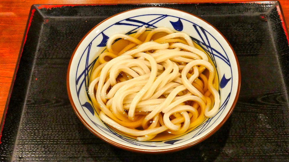 完成した丸亀製麺の「かけうどん」