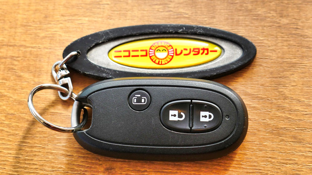 ニコニコレンタカーの車両キー