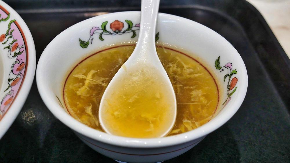 『天津飯』付属の中華スープ