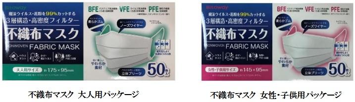 ファンケルが販売するマスク(日本語パッケージ)