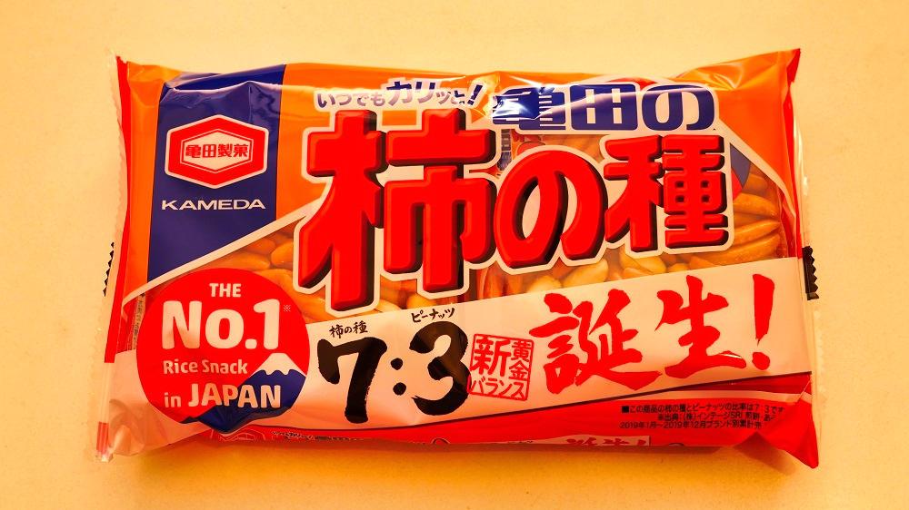 亀田の柿の種は6月から新パッケージ商品に切り換え