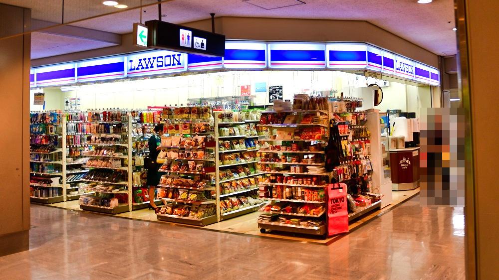 成田空港第1ターミナル地下1階のローソン