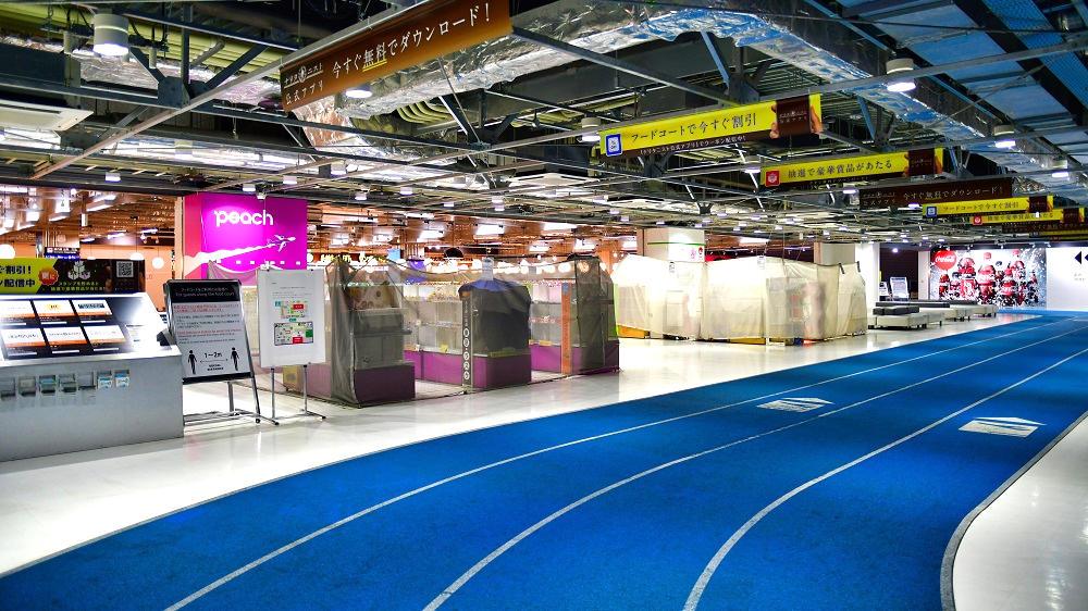 第3ターミナルでも物販店舗の多くは臨時休業している状況です。