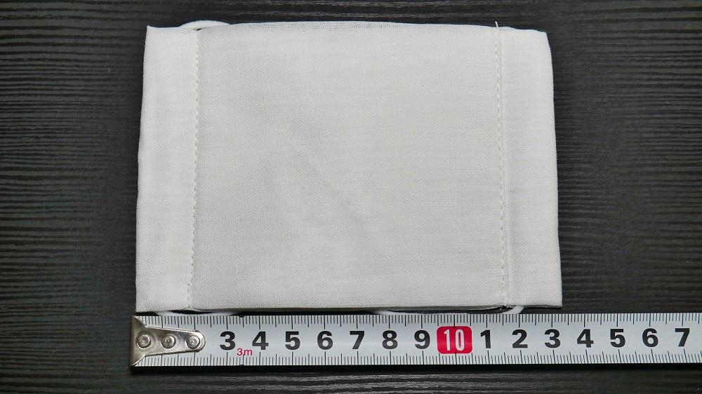 日本政府送付の布マスクのサイズ