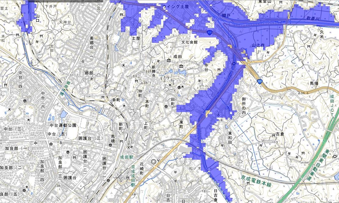 「地点別浸水シミュレーション検索システム」(浸水ナビ)
