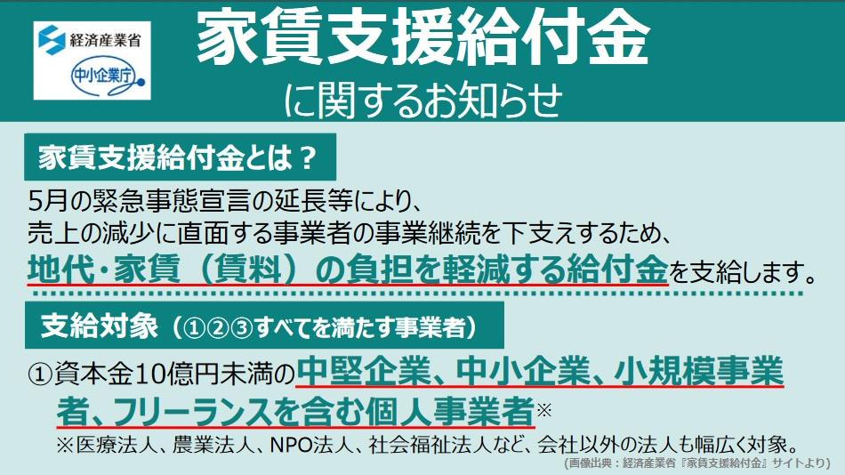 【7月14日受付開始】家賃支援給付金を個人事業主が申請する場合の注意点