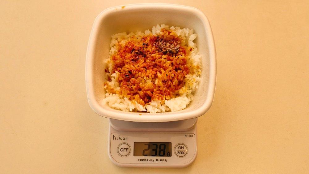 吉野家の『鰻重』の重量計測